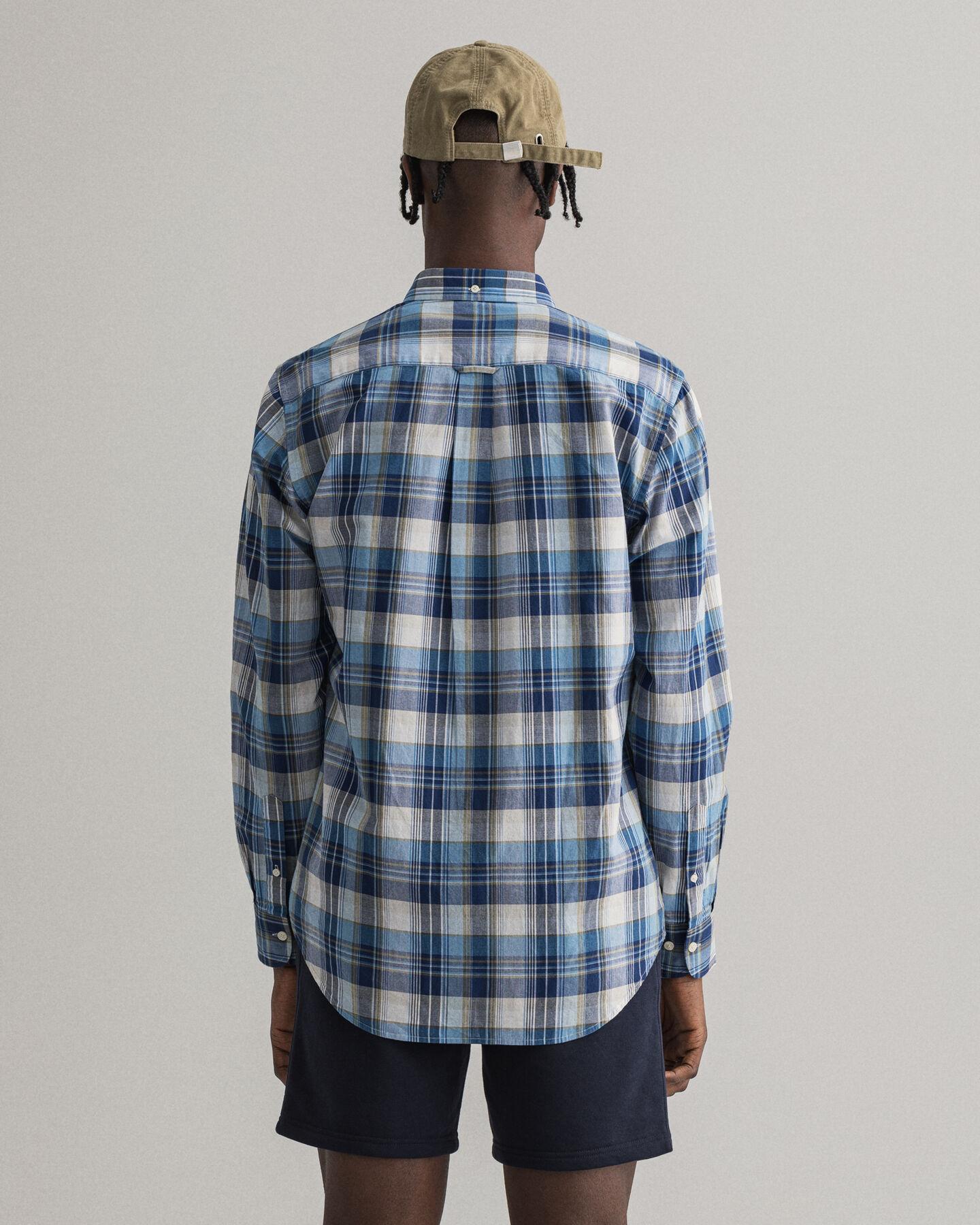 Regular fit indisk madrasrutig skjorta