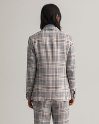 Rutig kostymkavaj i linne