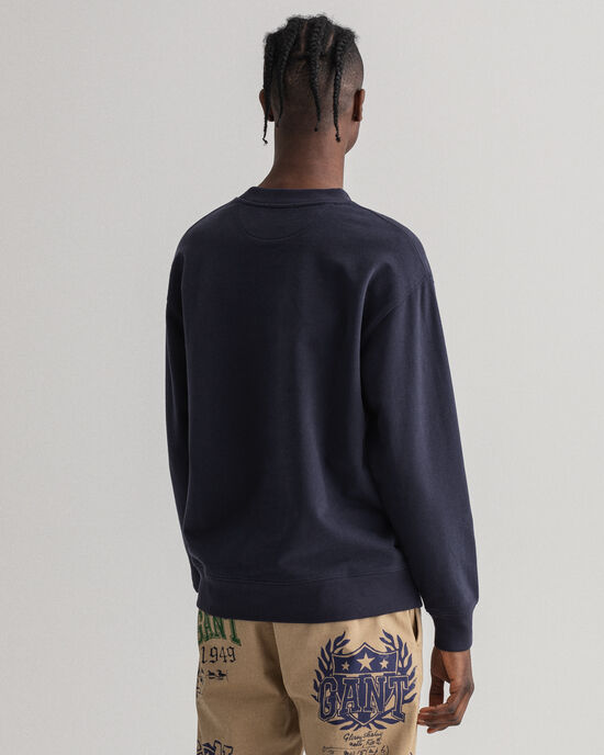 Royal Crest sweatshirt med rund halsringning